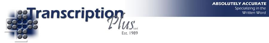 Transcription Plus, LLC Logo